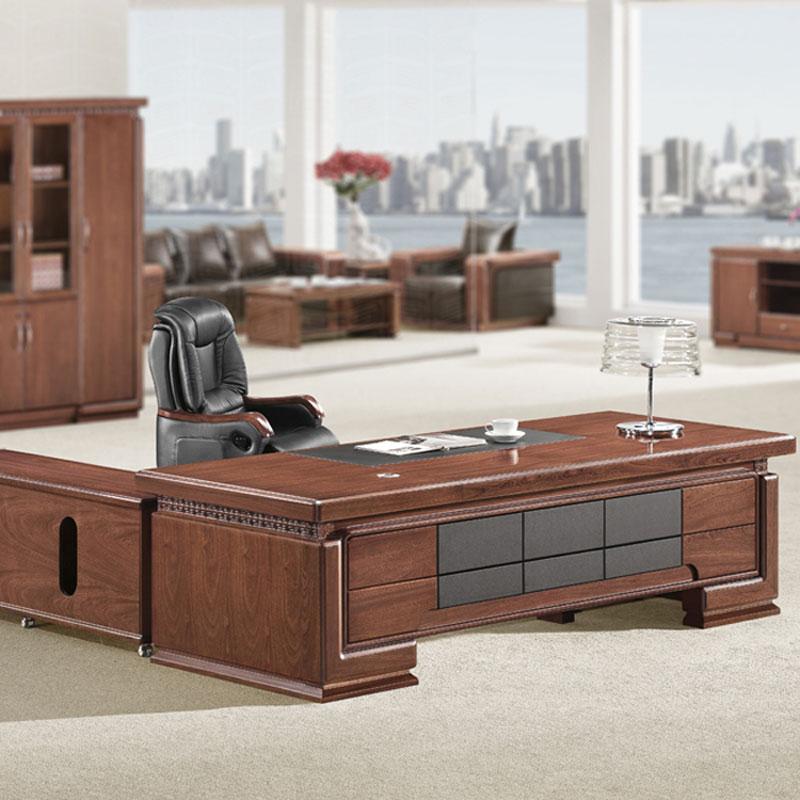 实木老板桌总裁桌品牌供应商BT-14#
