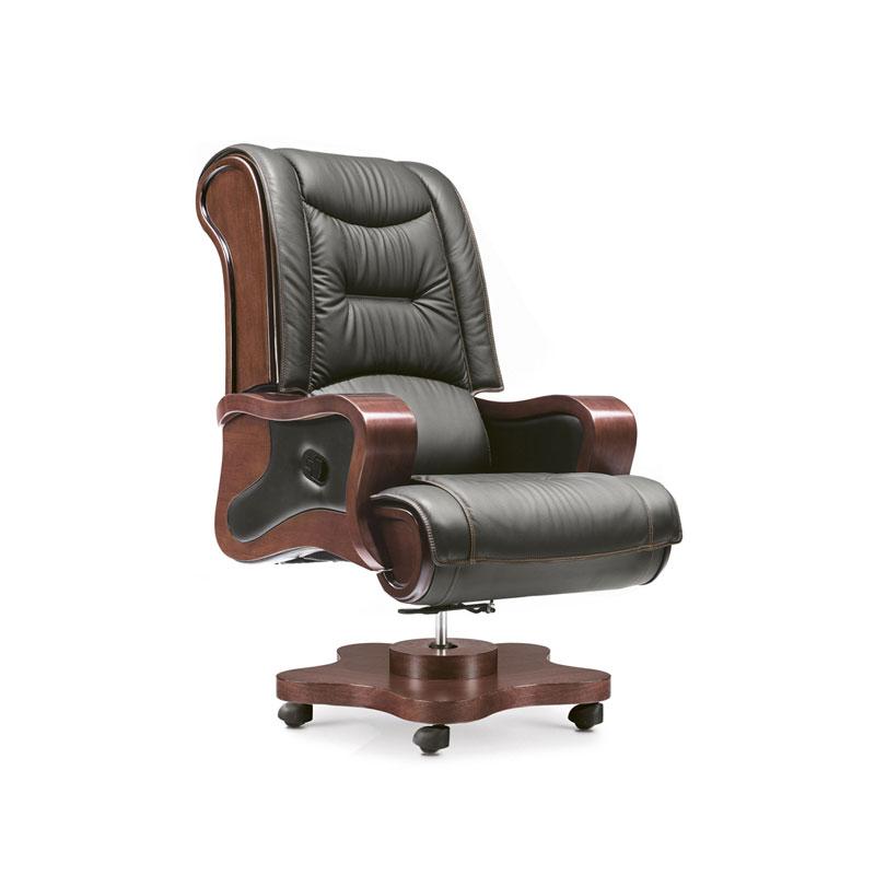 高端老板椅真皮可躺办公椅采购BY-07#