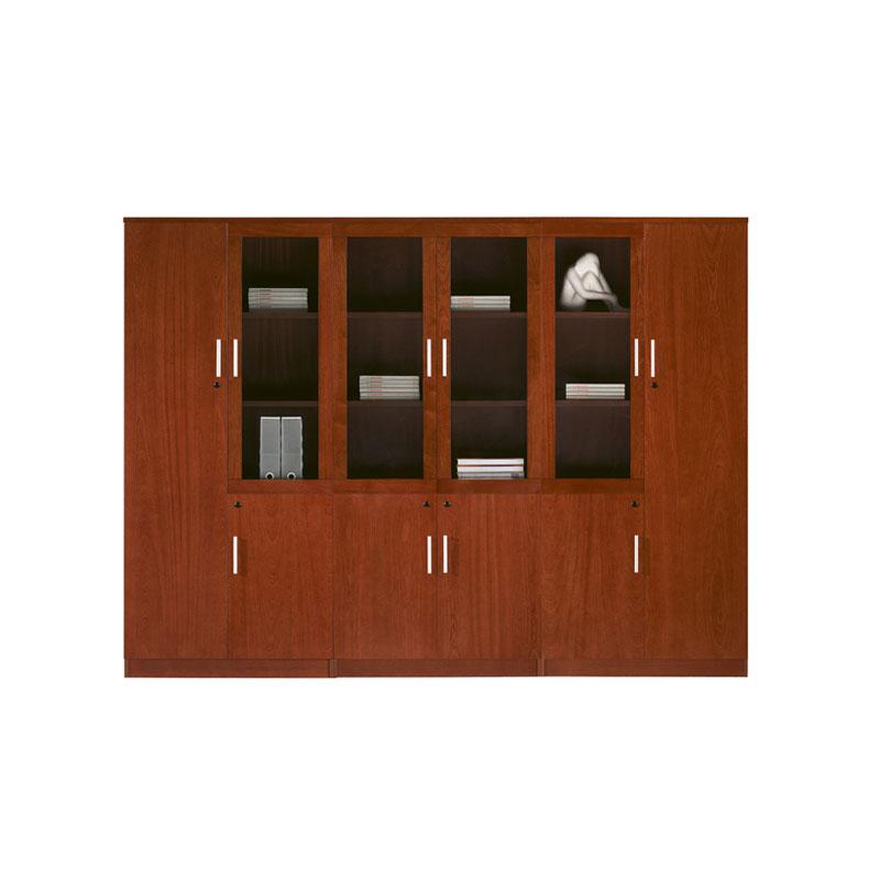 工厂直销带玻璃书柜储物资料柜JBSG-02#