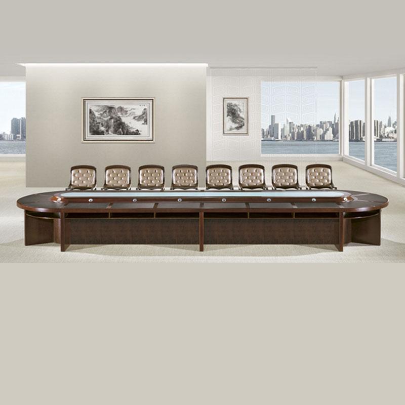 中式办公开会桌实木会议桌厂家直销 HYZ-02#