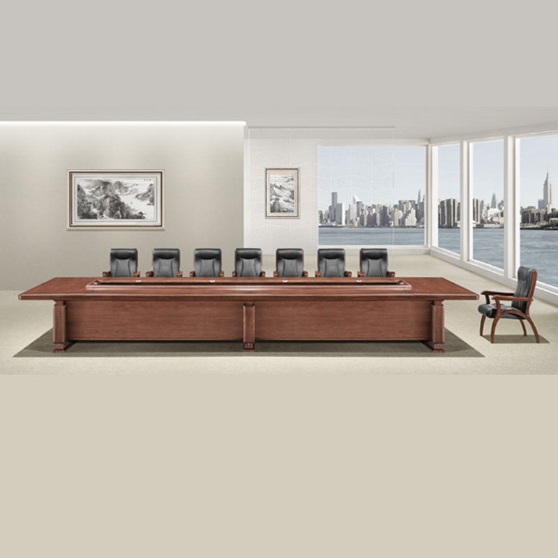 工厂直销实木油漆中式会议桌 HYZ-04#