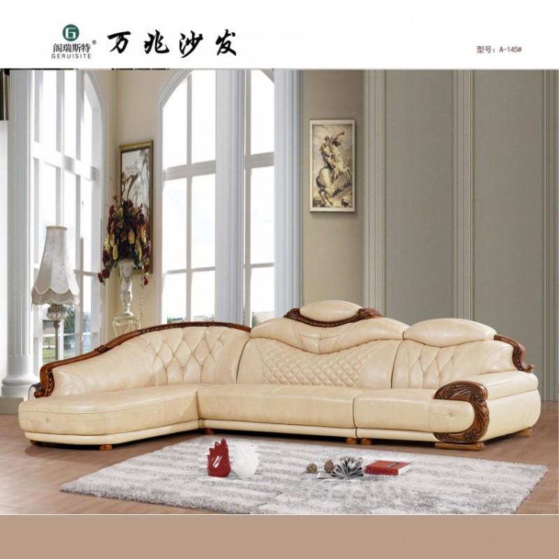 简约欧式实木雕花客厅