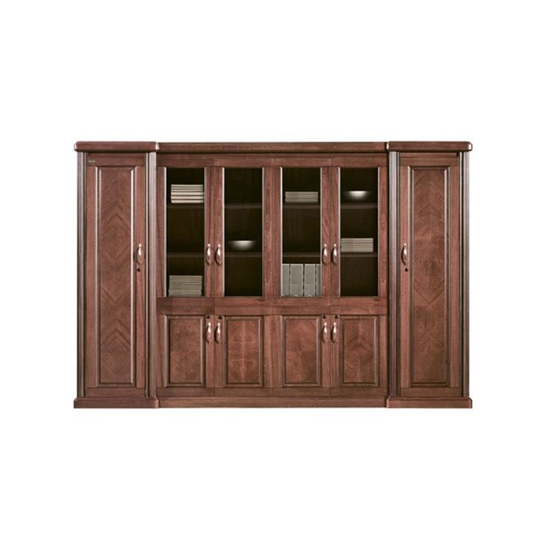办公室实木玻璃门书柜
