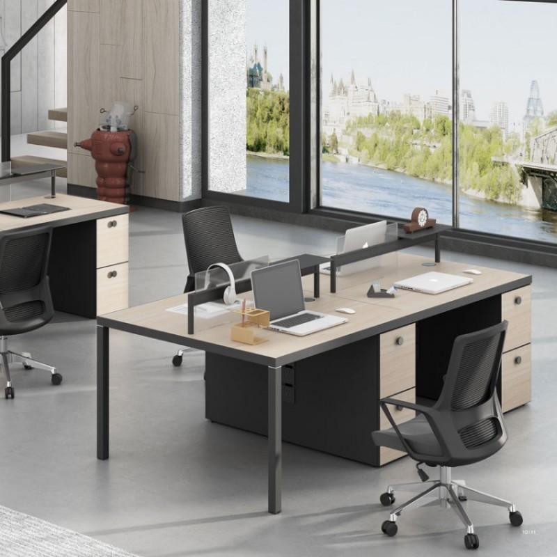 斯莫尔4人位职员办公桌定制Small-6#