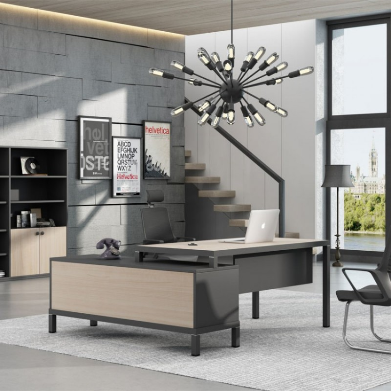 斯莫尔现代时尚总裁老板桌采购Small-5#