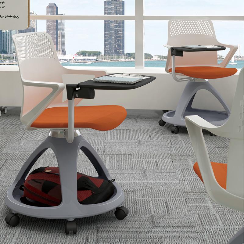 培训椅带写字板储物办公会议椅PXY-05#