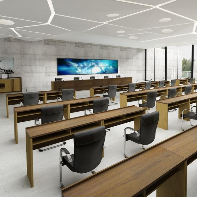 方毅简约办公长条桌培训桌组合H3AA-00422#