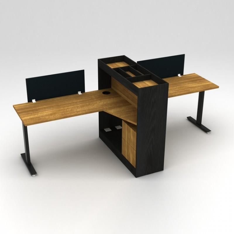 现代时尚两人位职员台采购T3AA-00365#