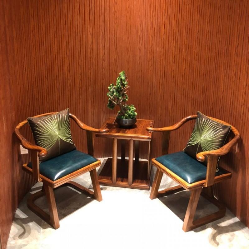 新中式实木休闲椅洽谈椅采购 XXY-01#