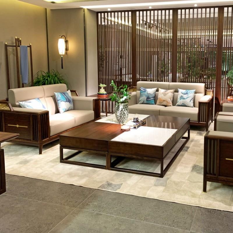 简约新中式实木商务办公沙发采购 SF-11#