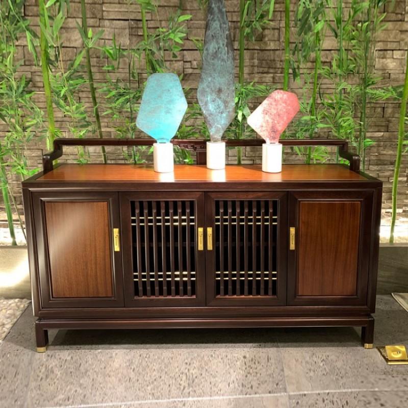 实木现代新中式茶水柜餐边柜定制 CSG-02#