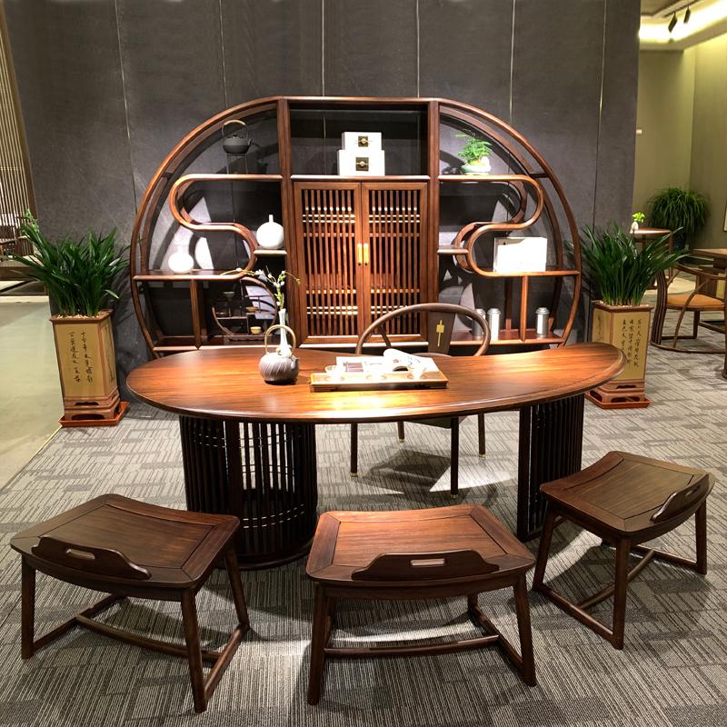 实木中式喝茶洽谈桌椅厂家直销 CSJJ-05#