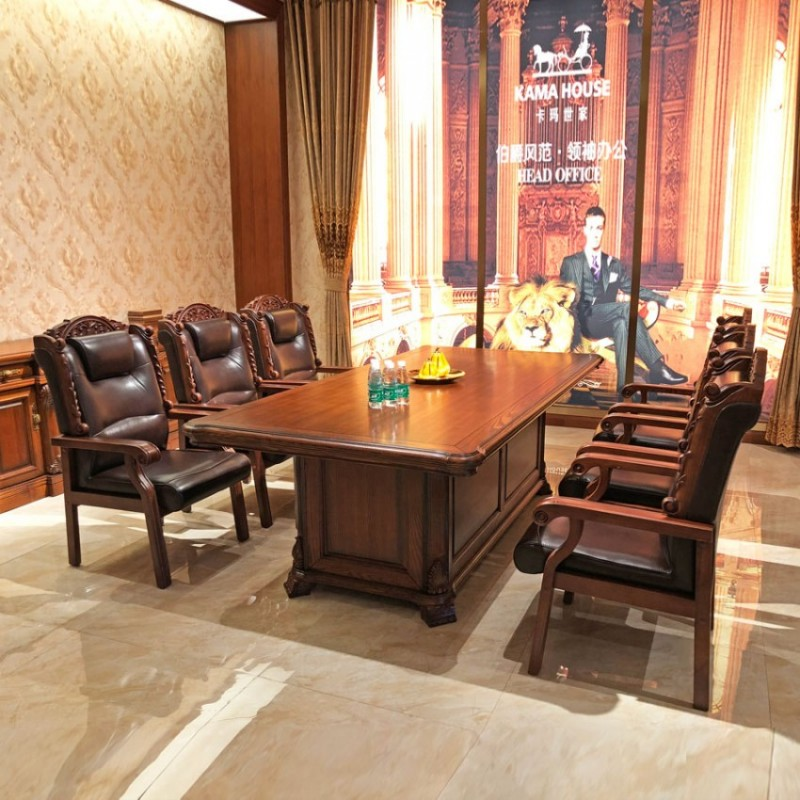 实木油漆小型办公桌供应商 HYZ-03#