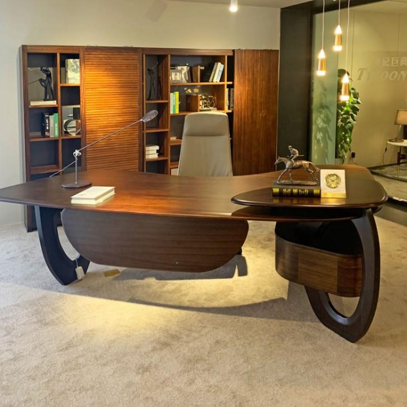 办公室实木油漆总裁办公桌采购 BT-03#