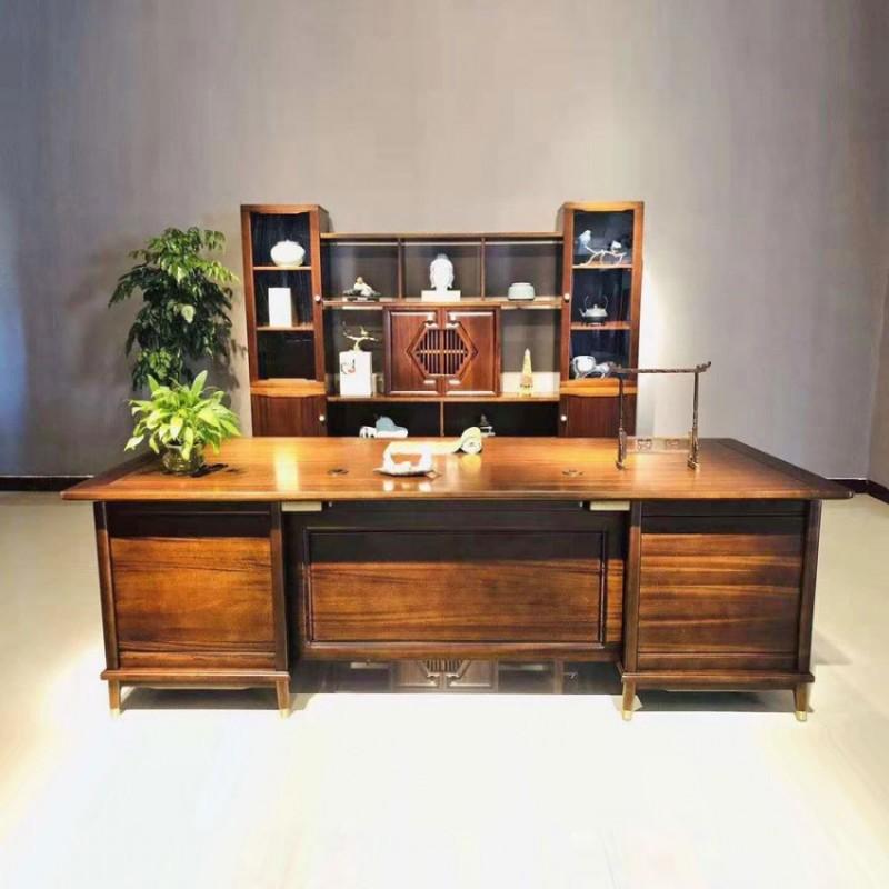中式实木油漆办公室班台价格 BT-10#
