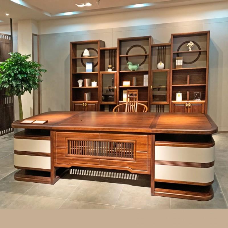新中式实木老板班台办公桌价格 BT-19#