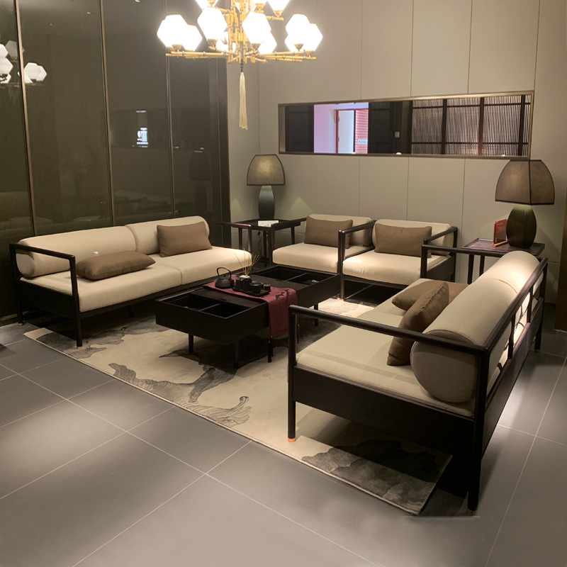新中式简约办公沙发厂家直销SF-03#