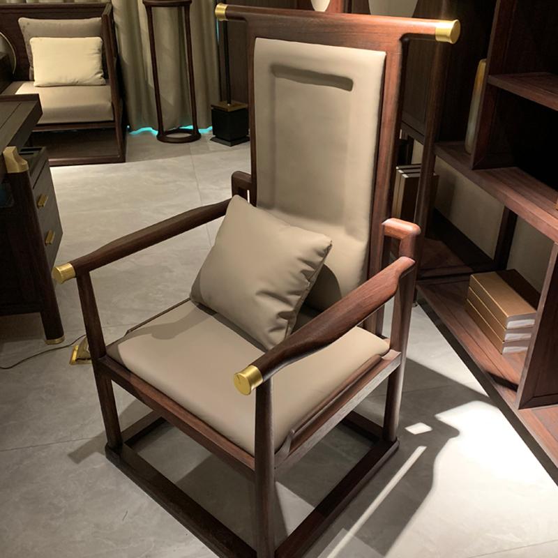 新中式办公会客洽谈椅可定制CY-01#