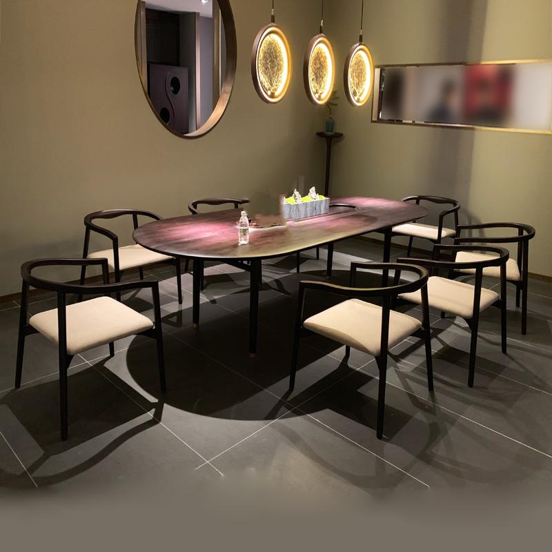 新中式实木商务办公会议桌价格HYZ-02#