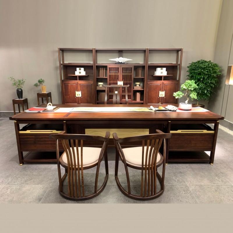 定制办公室实木经理台老板办公桌  BT-23#