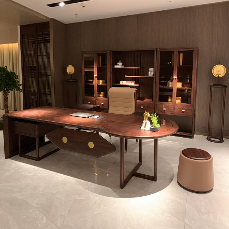 实木新中式办公桌椅组合采购价格 BT-09#