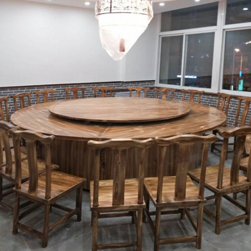 厂家直销碳化木大型餐桌椅 BLS-15