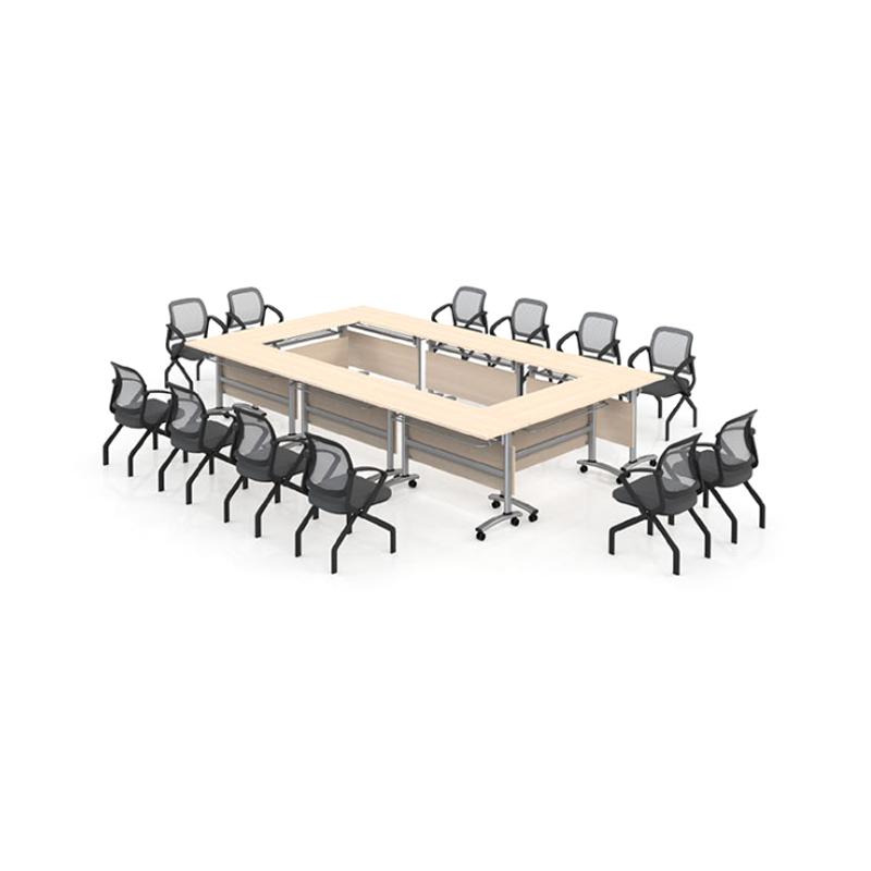工厂直销带轮培训桌椅长条桌组合PXZ-04#