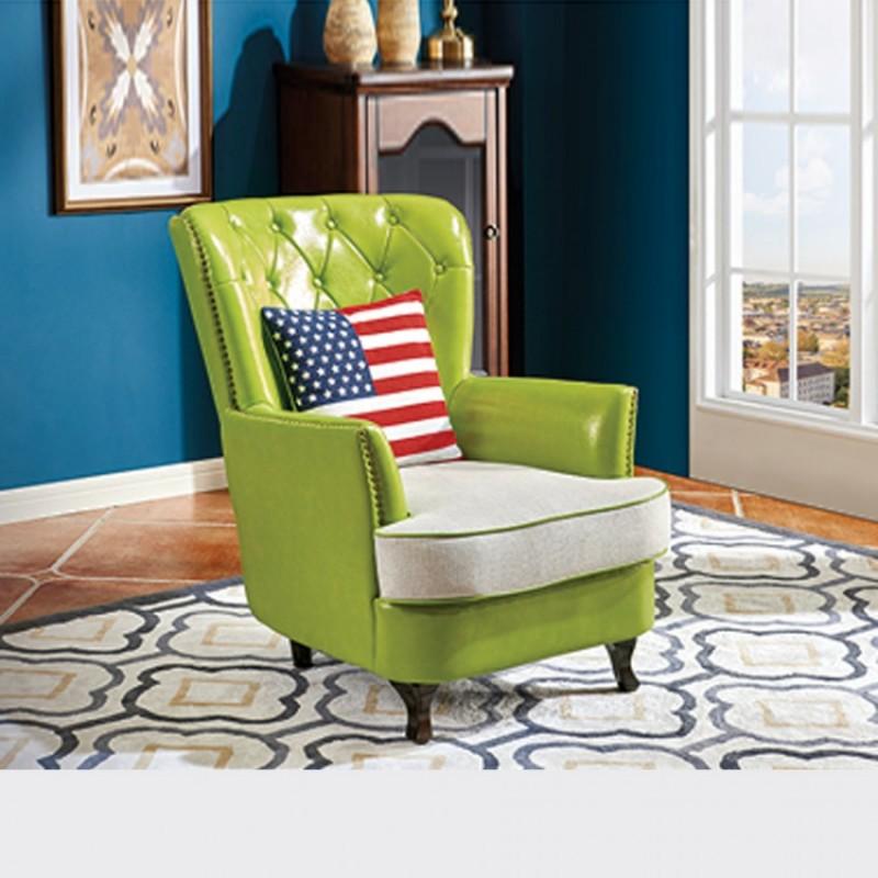 工厂直销小户型客厅沙发椅4#老虎椅B