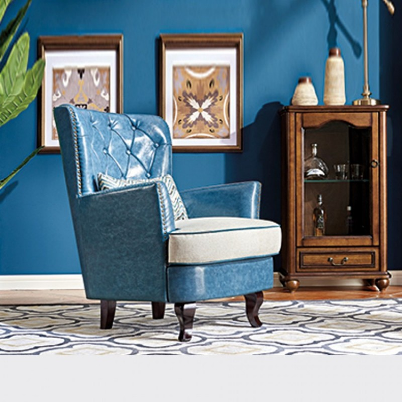 轻奢美式客厅沙发椅4#老虎椅A