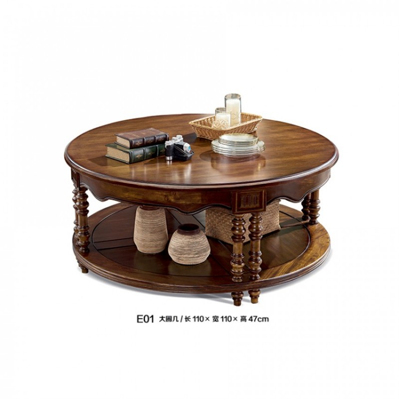 美式家用客厅储物茶几采购 E01#大圆几