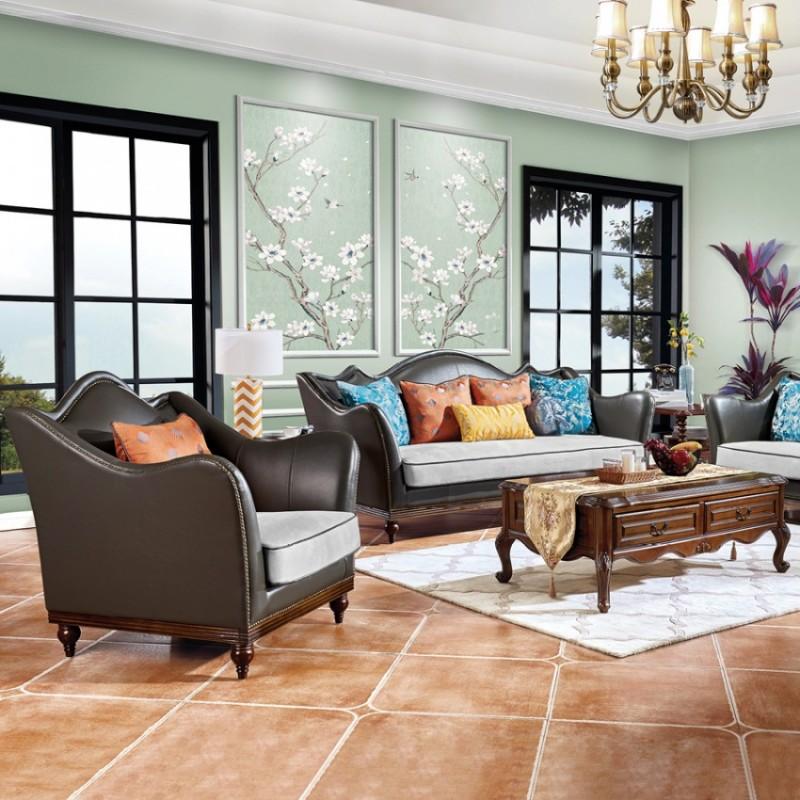 别墅美式客厅沙发采购