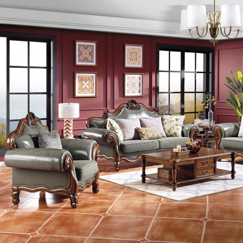 轻奢时尚美式客厅沙发定制 M25#