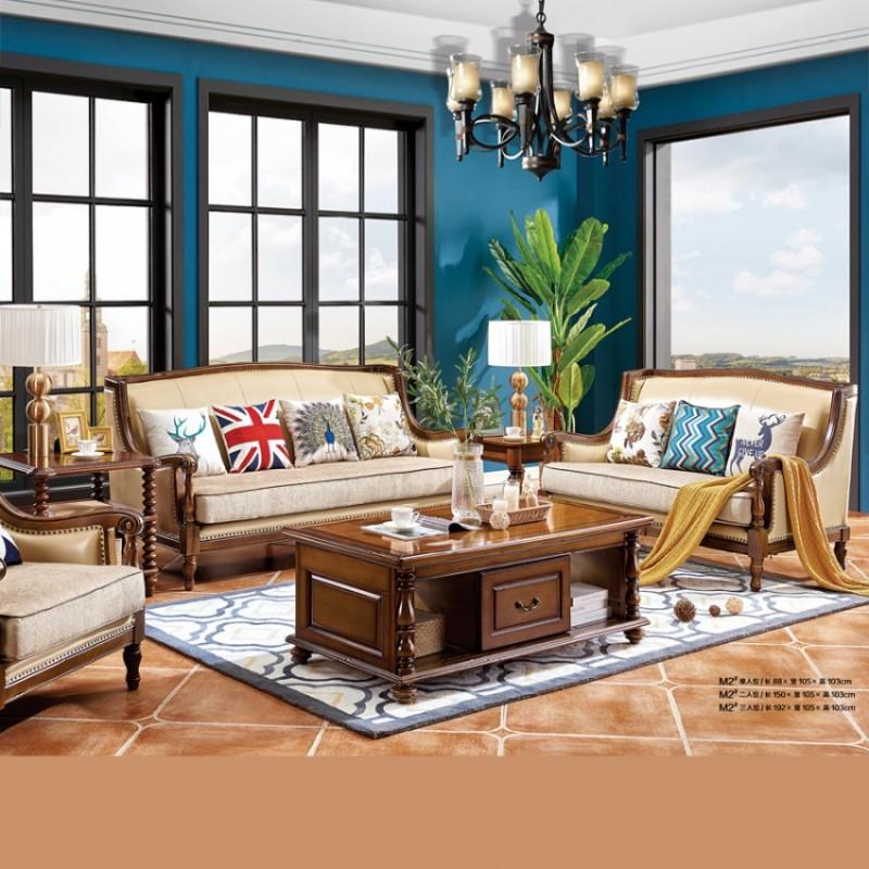 时尚美式别墅客厅沙发采购 M2#