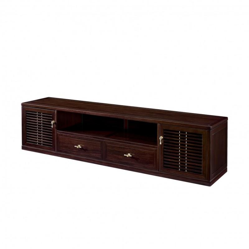 仟玺新中式实木非洲酸枝客厅地柜电视柜KN01-6