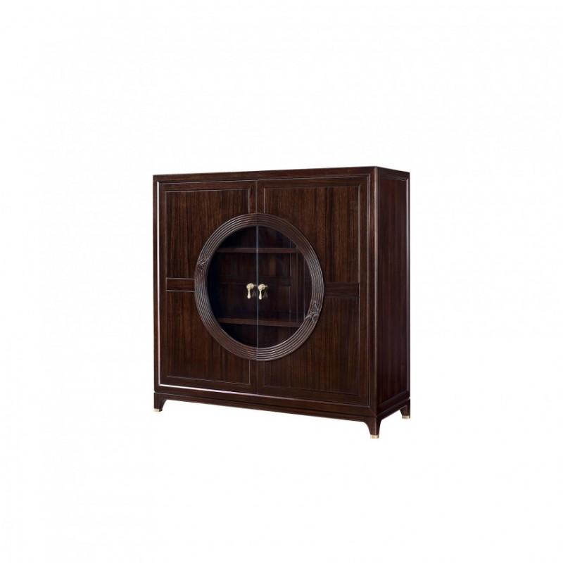 仟玺新中式实木非洲酸枝餐厅组合餐边柜中柜KT05-2