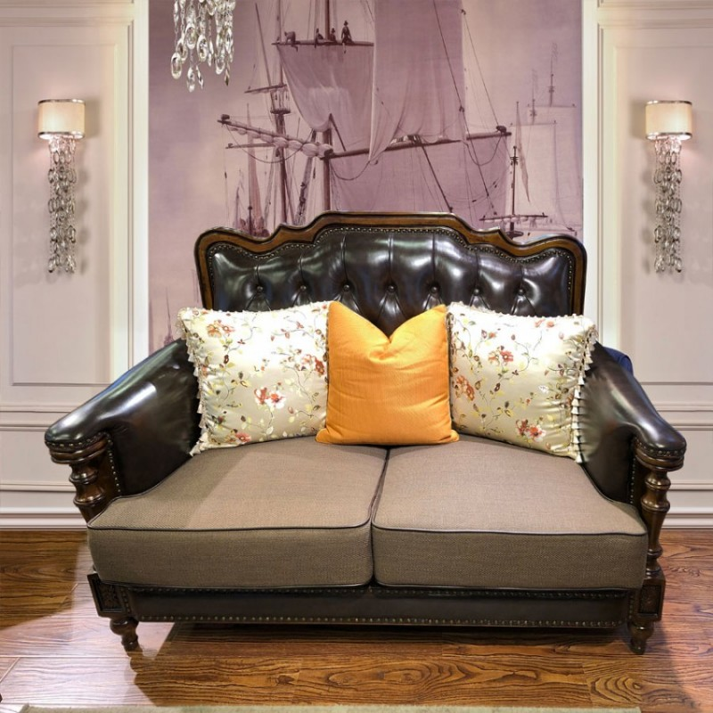 后现代轻奢大户型别墅客厅沙发定制SF-06#