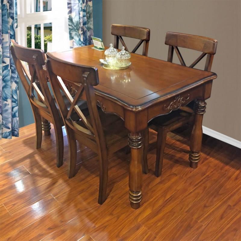 后现代实木餐桌椅美式餐桌采购CZY-03#