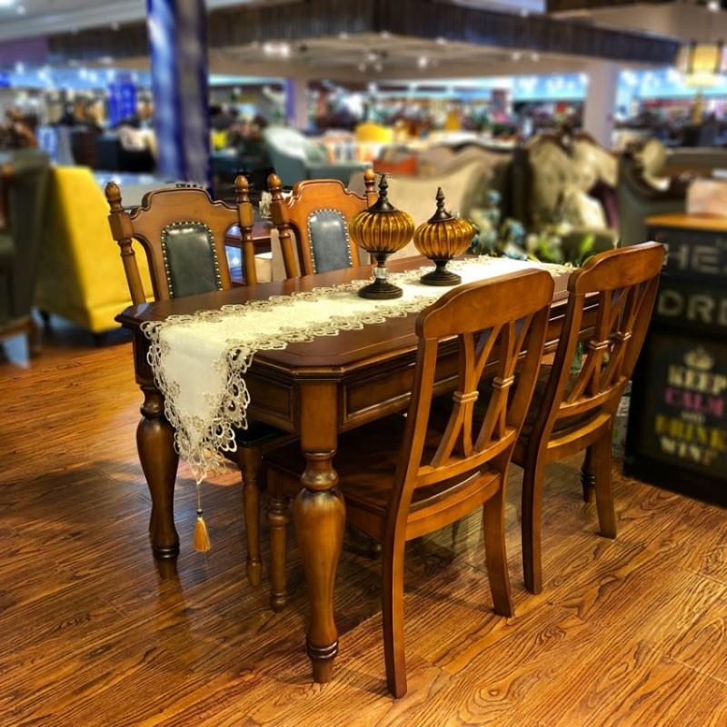 现代简约家用美式实木餐桌价格CZY-06#