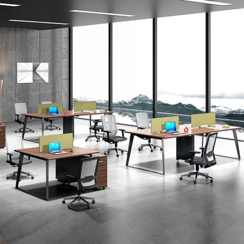 屏风职员电脑桌椅组合