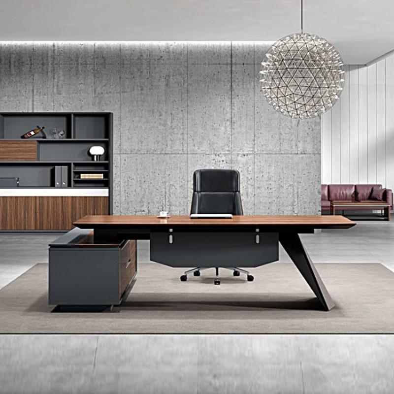 简约现代经理桌椅组合