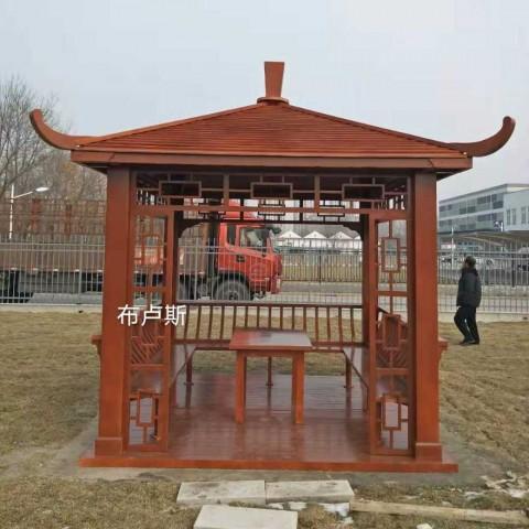 香河户外凉亭方柱厂家庭院设计实木长廊地板秋千桌椅 (27播放)