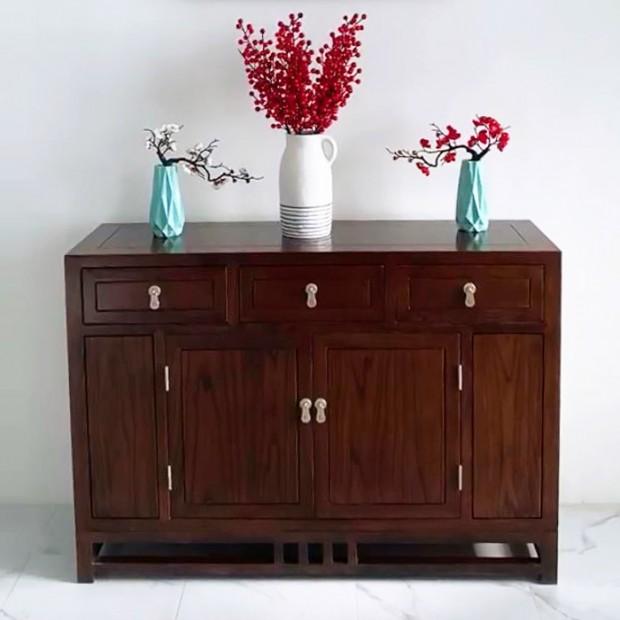 中式榆木储物柜实物展示 (54播放)