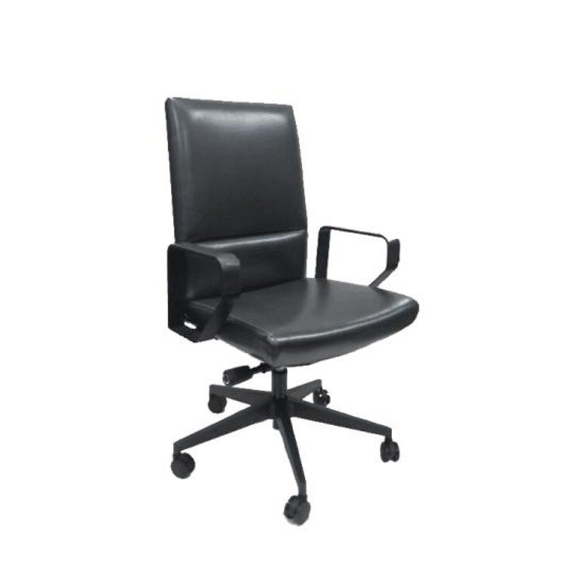 兆生格镭皮椅高端转椅中班椅YZPW-00206#