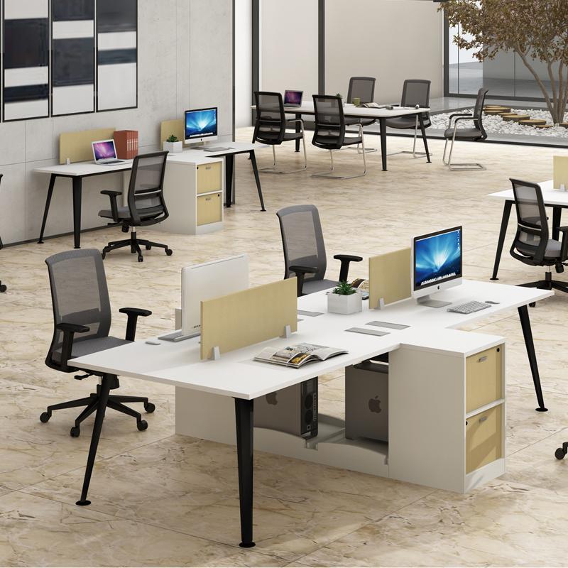 兆生菱动-简约时尚职员办公桌 0014#
