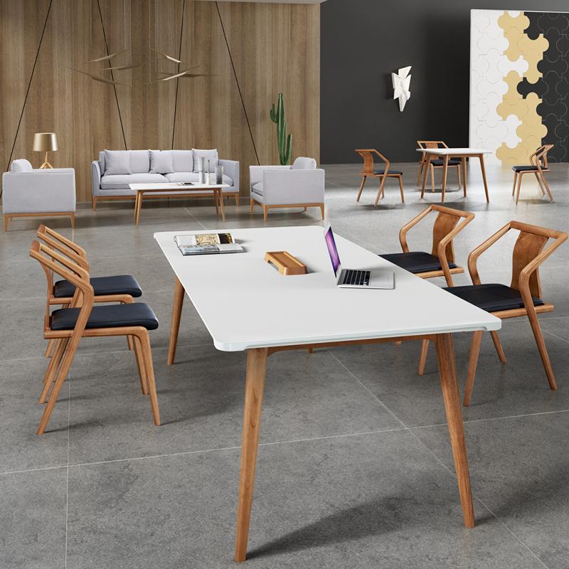 兆生玄木现代简约商务会议桌 007#