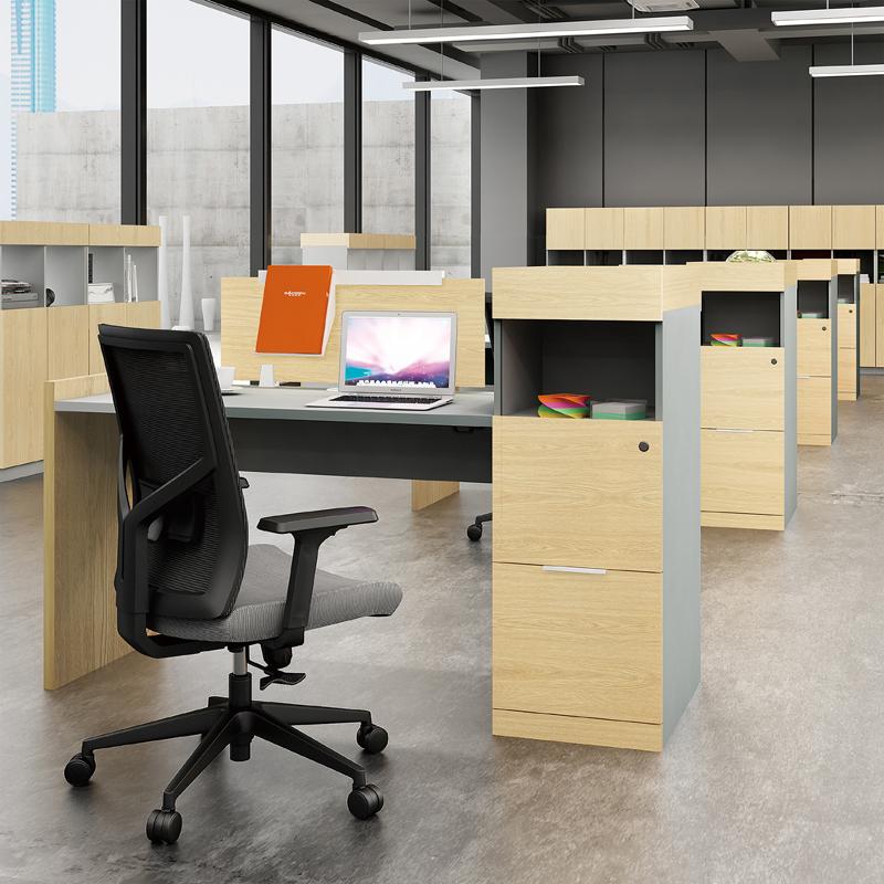 兆生简博-单人位职员台办公桌X3AA-JBT07#