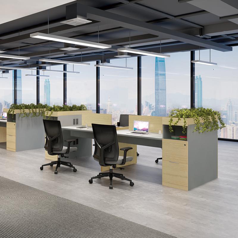 兆生简博屏风组合办公桌 0015#