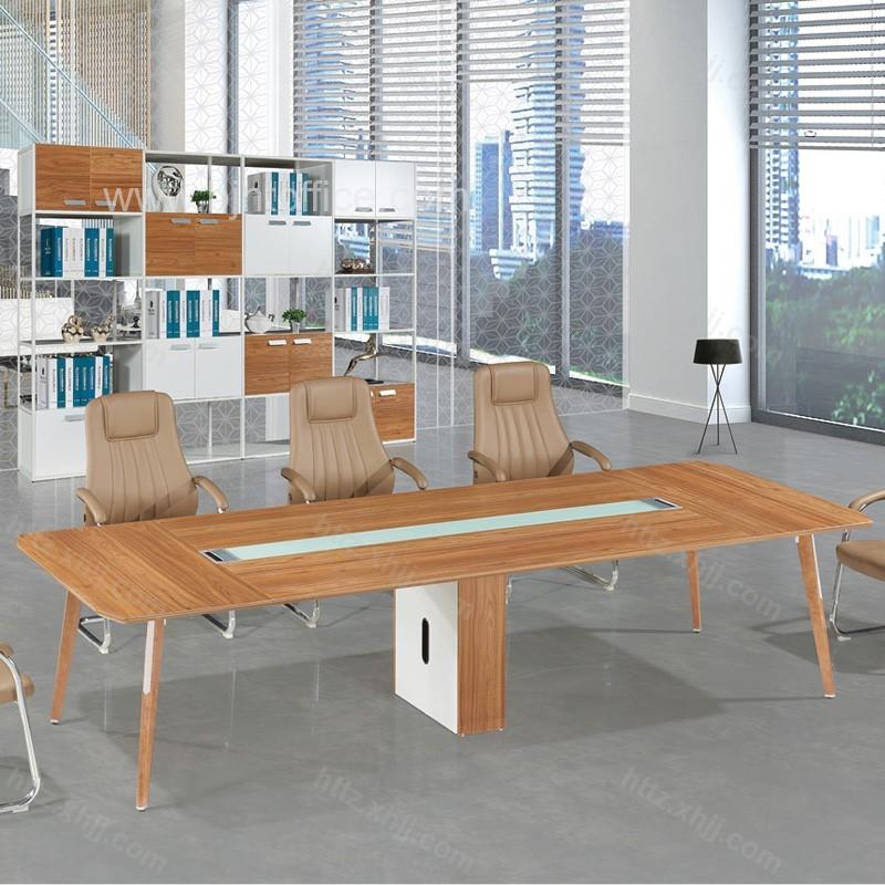 简约办公会议桌 现代板式大型洽谈桌 M17-CF28E