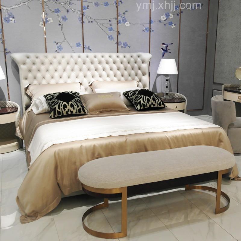 现代轻奢风格别墅卧室套房家具品牌SAM-89