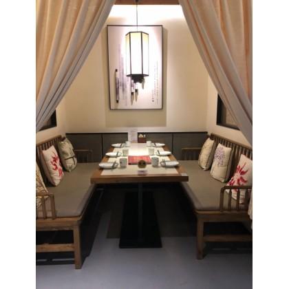 饭店实木桌椅